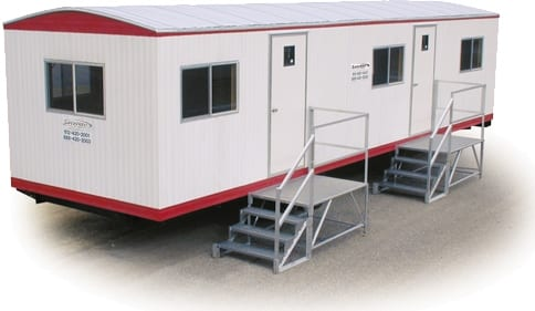 Jobsite office trailers